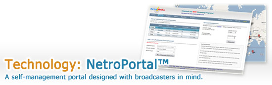 Streaming Management Service - NetroPortal