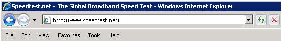 test home speed
